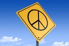 3D路标_peace sign_angle3的例证 皇族释放例证