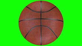 3D转动在慢动作的耐久的篮球球的动画 库存例证