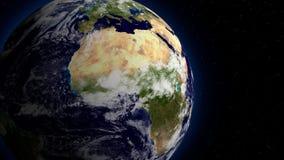 3D转动行星地球空间的视图,美国航空航天局装备的这个图象的元素 向量例证