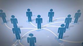 3d连接数查出的网络社交 库存例证