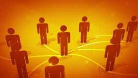 3d连接数查出的网络社交 向量例证