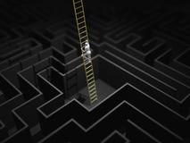 3D迷宫迷宫的例证 向量例证