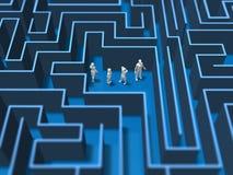 3D迷宫迷宫的例证 皇族释放例证
