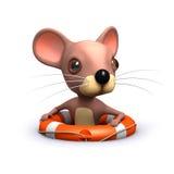 3d逗人喜爱的老鼠被抢救了 库存图片