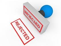 3d邮票被拒绝的文本 库存图片