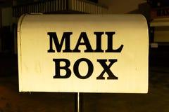 3d配件箱查出的邮件对象 免版税图库摄影