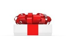 3d配件箱礼品图象白色 库存图片