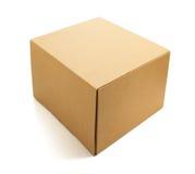 3d配件箱纸板设计白色 免版税库存图片
