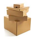 3d配件箱纸板设计白色 库存图片