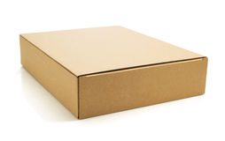 3d配件箱纸板设计白色 图库摄影