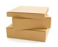 3d配件箱纸板设计白色 免版税库存照片