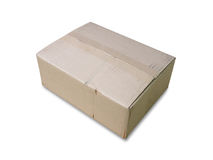 3d配件箱纸板设计白色 免版税图库摄影