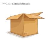 3d配件箱纸板 免版税图库摄影