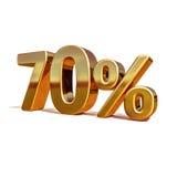 3d金子70百分之七十折扣标志 免版税库存图片