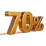 3d金子70百分之七十折扣标志 库存图片