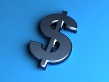 3d金属美元标志 免版税库存图片