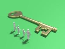 3d钥匙的例证 免版税库存图片