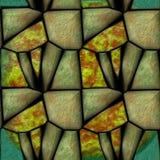 3d锋利的绿色的抽象无缝的样式分层了堆积石头 向量例证