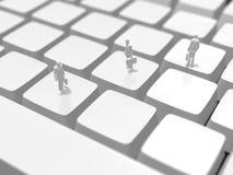 3D键盘的例证 免版税图库摄影