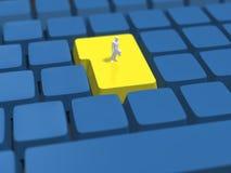 3D键盘的例证 库存图片