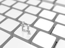 3D键盘的例证 库存照片
