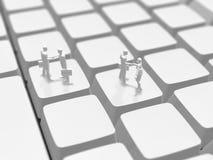 3D键盘的例证 皇族释放例证