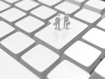 3D键盘的例证 免版税库存照片