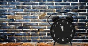 3d闹钟翻译有小的分钟的对十二个o ` cloc 免版税库存照片