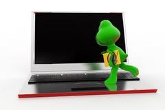 3d青蛙邮件概念 免版税库存照片
