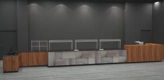 3D面包店室内设计的形象化 免版税库存图片