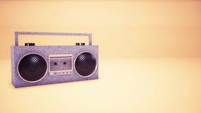 3D音频音乐磁带背景 库存例证