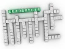 3d领导概念词云彩 免版税库存照片