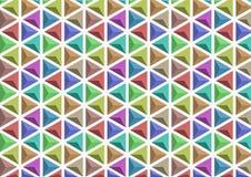 3D颜色变异三角  免版税库存图片
