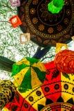 3d颜色图象回报了伞 免版税库存图片
