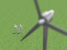 3D风力一代的例证 库存例证