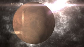 3d飞星和行星 库存图片