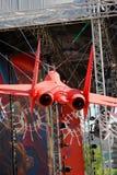 3d飞机红色白色 假日装饰 图库摄影