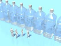 3D饮用水巩固的例证 皇族释放例证