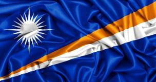 3d马绍尔群岛挥动的旗子  库存图片