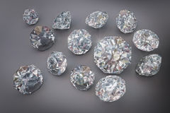 3D,金刚石,首饰,宝石,精采 免版税库存照片