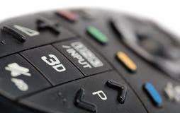 3d à la TV à télécommande Images libres de droits