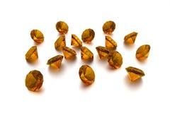 3D âmbar - 18 gemas Fotos de Stock Royalty Free