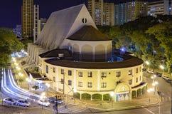 D'église le centre ville dessus de Londrina Images stock