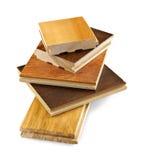 d'étage de bois dur échantillons de finition pré Photo libre de droits