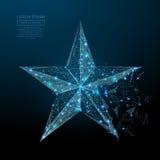 D'étoile poly bleu bas Photos libres de droits