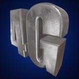 3D ícone do metal 4G no azul Foto de Stock