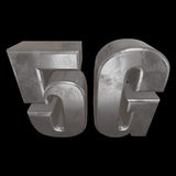 3D ícone do metal 5G no preto Fotografia de Stock Royalty Free
