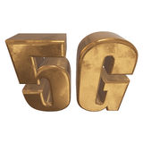 3D ícone do ouro 5G no branco Imagens de Stock