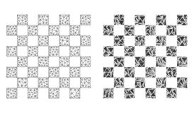 2D ícone poligonal de Mesh Chess Board e do mosaico ilustração do vetor