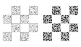 2D ícone poligonal de Mesh Chess Cells e do mosaico ilustração stock